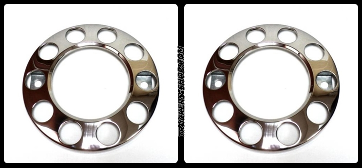 10 Stud Donut Rings Nut Covers Alloy Wheels, 22.5″ Wheel Trim