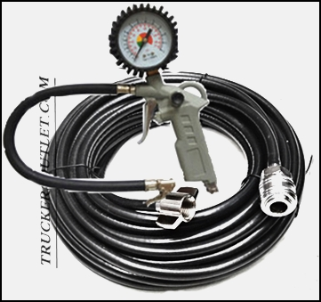 Details about AIR LINE 12M INFLATOR AND GAUGE KIT ,PUMP TYRE SET [TRUCK  PARTS & ACCESORIES]