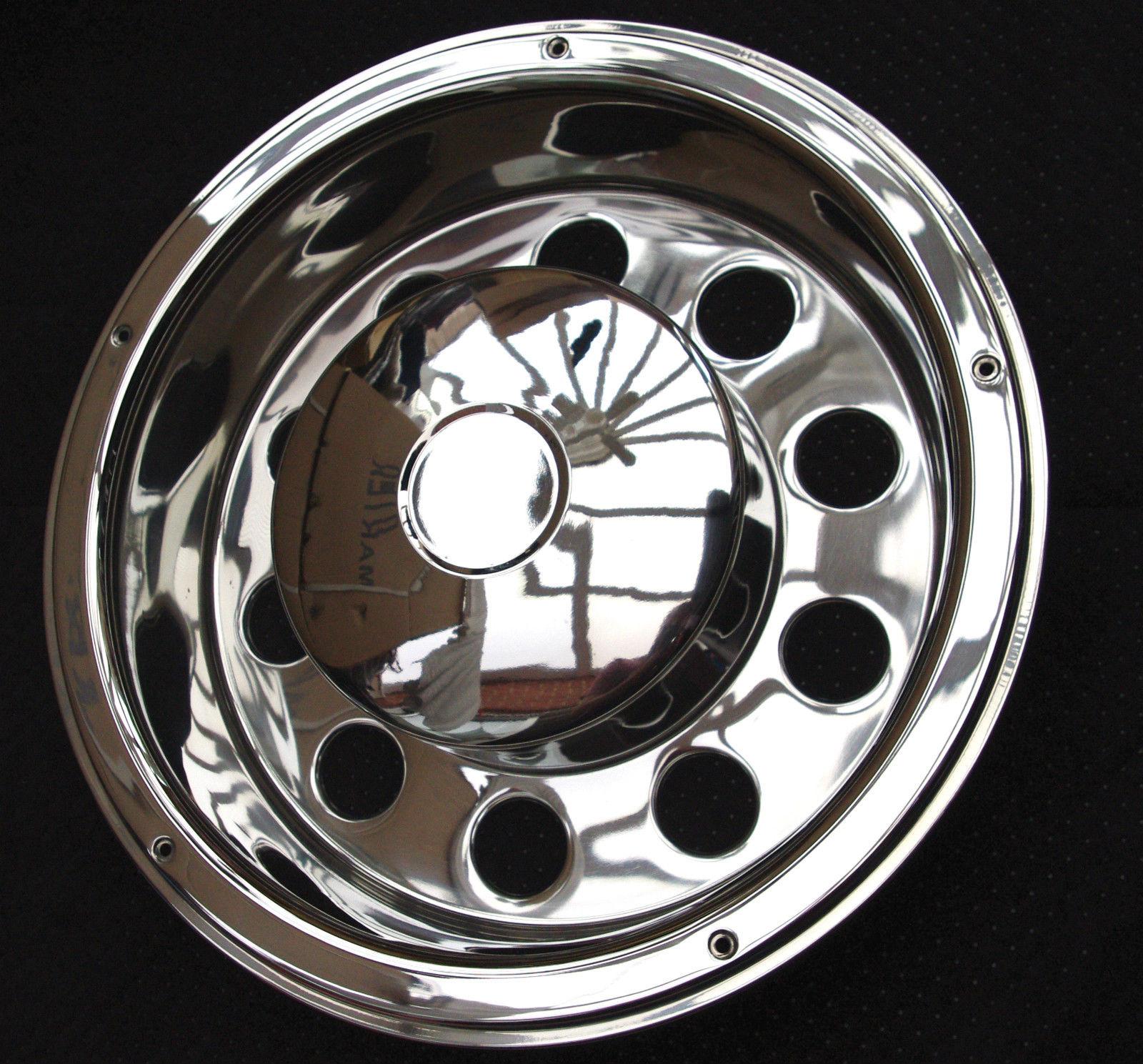 Rear truck wheel trims stainless steel