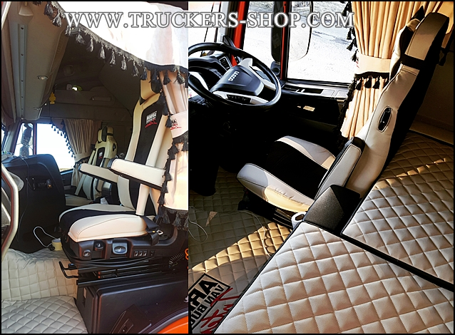Iveco highway floor set leatherette www truckers shop com for Interieur tuning shop